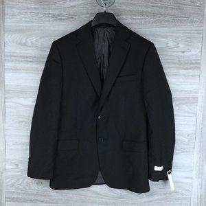 Calvin Klein Solid Black 2 Button Blazer